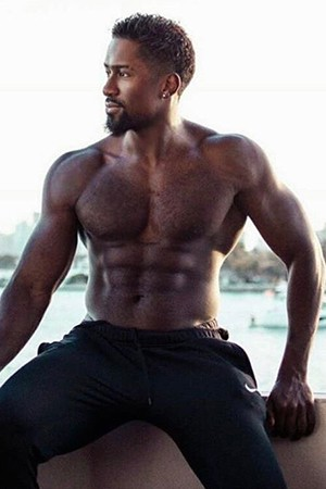 Muscular Ebony Male Escort