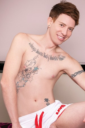 Angelo Fox Shaven Young Male Escort