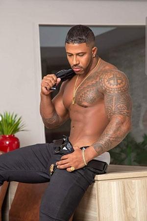 Athletic black Male Escort